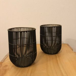 Wire Candle Holders (Set of 2)